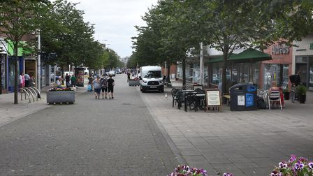 Shoppers out in London Road North, Lowestoft. Picture: Mick Howes