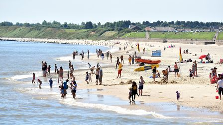 A very hot and sunny Gorleston beach.July 2016.Picture: James Bass