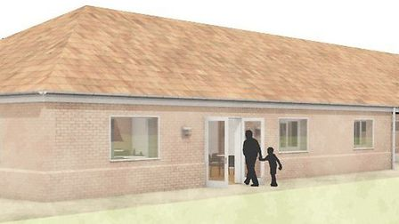An artist's impression of what the new pavilion on Hethersett Memorial Playing Field will look like.