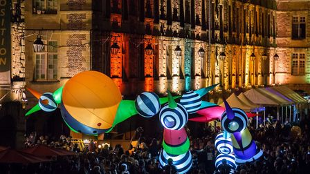 The Love Light Festival was a great way to bring people together in the city Picture: Aviva
