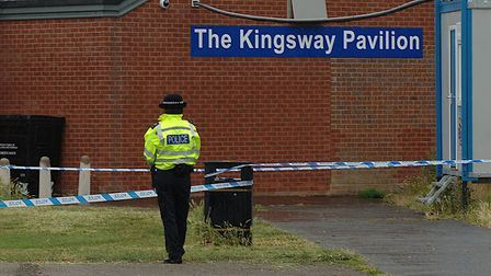 Police have cordoned off the Kingsway Pavillion, off Riversway, King's Lynn, following an incident i