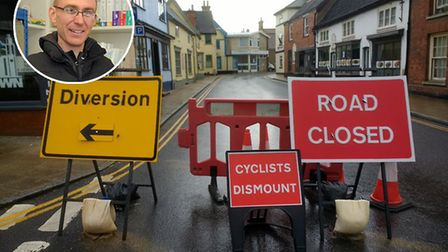 Road closures in Harleston due to coronavirus have caused controversy among shoppers and businesses,