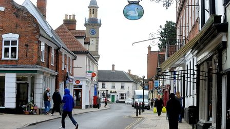 Road closures in Harleston have been criticised by several businesses and shoppers. Picture: Denise