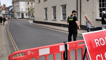 Road closures in Harleston town centre have caused controversy among businesses and shoppers. Pictur