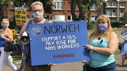 Hundreds of people take part in the NHS March at Chapelfield Gardens. Picture Victoria Pertusa