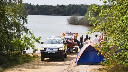 Emergency services on the scene at Bawsey Country Park, near King's Lynn. Picture: Ian Burt