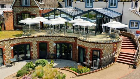 The sun deck at the back of the White Horse Inn at Brancaster. Picture: The White Horse