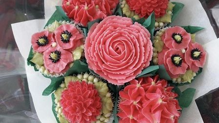 Cakes that resemble flowers, made by Kirsty Penfold at Kirsty's Cupcake Corner. Pic: Kirsty's Cupcak