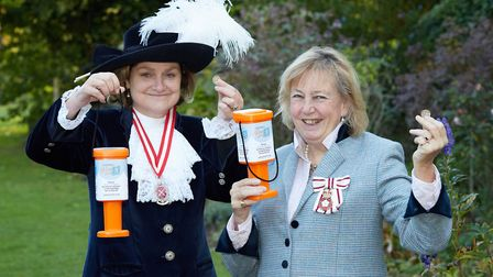 FLASHBACK: Lady Agnew (left) and Lady Dannatt launch Centre 81s Pop in a Pound community appeal in O