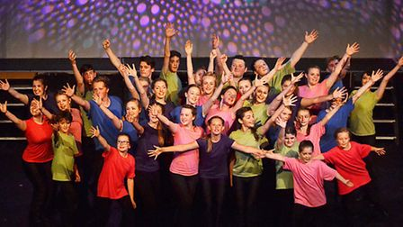 Members of Dereham Operatic Society Youth Theatre Company perform their summer production West End S