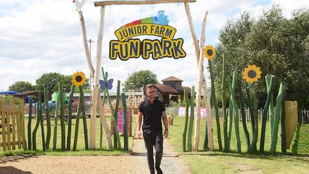 General manager, Ben Marshall, at the entrance to the refurbished Fun Park at Wroxham Barns. Picture