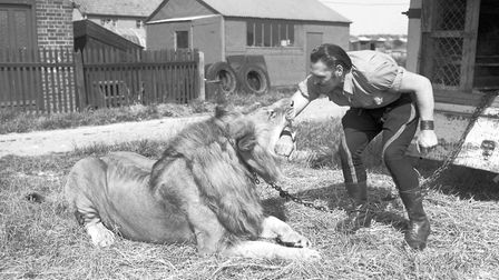 A lion tamer, pictured in Great Yarmouth in 1961. Picture: Archant library