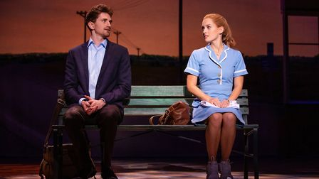 David Socolar as Dr Pomatter and Bailey McCall as Jenna in the US tour of Waitress Picture: Jeremy D