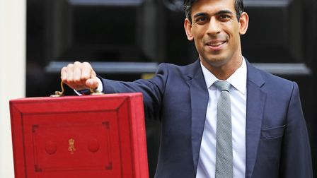 Chancellor Rishi Sunak outside 11 Downing Street, London, before heading to the House of Commons to