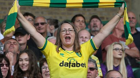 Norwich City fans may be able to return to Carrow Road for live football by the middle of October, b