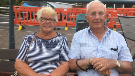 Janet and Bob Munnings enjoying a day in Wroxham. Picture: Simon Parkin
