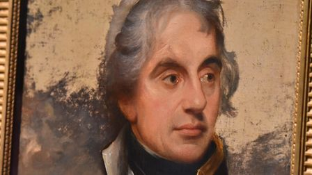 Horatio Nelson by Sir William Beechey on display at Norwich Castle. The picture was taken in October