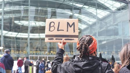 A Black Lives Matter Protest at the Forum in Norwich. Pic: BRITTANY WOODMAN
