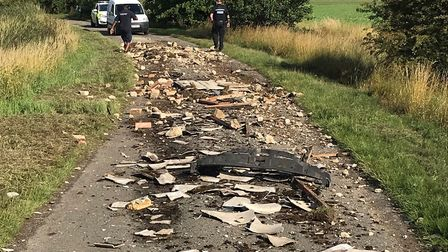 Bailey Lane in Clenchwarton has been closed after asbestos was fly tipped Picture: West Norfolk cou