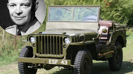A jeep once owned by Second World War general and US president Dwight D. Eisenhower is being auction