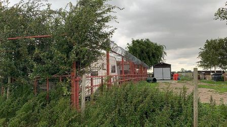 Police raided a remote farm at Tydd St Giles, near Wisbech, on Tuesday Picture: Cambridgeshire Cons