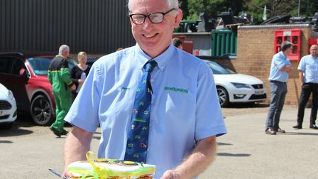 Ben Burgess director Jimmy Lockhart is celebrating 40 years with the Norwich-based farm machinery co