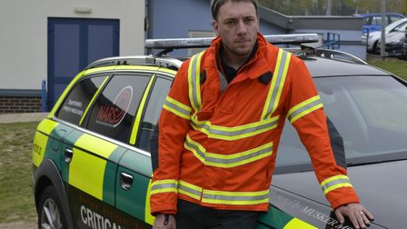 NARS critical care paramedic Ryan Warwick, who saved Geoff Roberts's life after his heart stopped fo