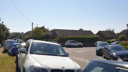 Cars parked in Winterton gridlocked the village on July 31. PHOTO: James Denton