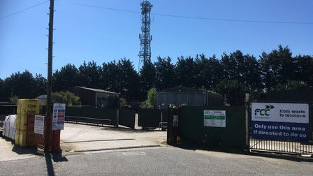 The entrance to the site which could be used for a new Veolia waste transfer station on Longwater In