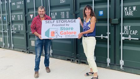 Self-storage firm Store Galore, owned by husband and wife pair Sam and Rebecca Hill, have marked the