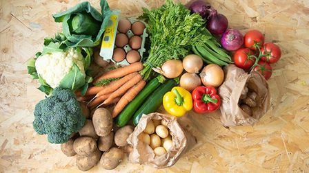 The vegetable selection hamper by Mike, Debs & Sons. Picture: Mike, Debs & Sons