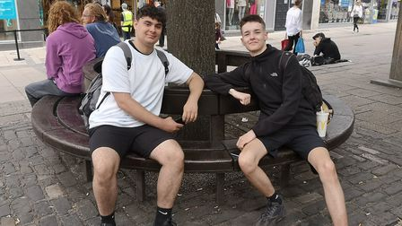 Leon Flint, 18, from Norwich and Matt Britton, 18, a lifeguard from Great Yarmouth. Picture: Ruth La