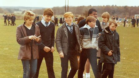 A treasure trove of old pictures have been found during modernisation work at Smithdon High School i
