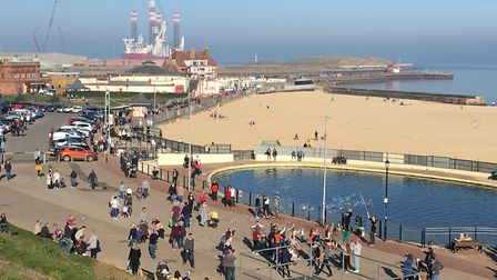 Another busy day by the beach at Gorleston. Picture: Nick Richards