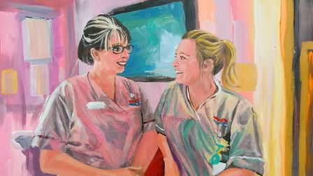 Dr Kate Grant took photographs of colleagues and painted them which have now been put on display at