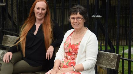 Tracey Buckenham, left, and Tara Riddle of Norfolk Thyroid Group, are delighted that the T3 drug for