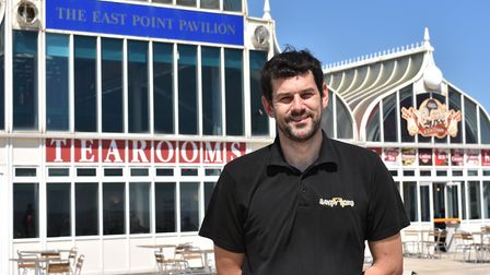 Andrew Ling, director of Sandy Toes Lowestoft Ltd, leases the East Point Pavilion tea rooms. Picture