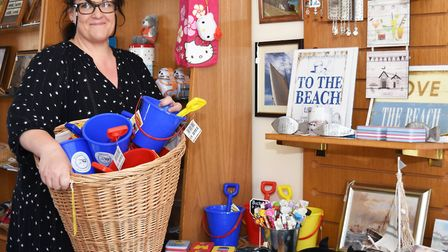 Jacqui Dale, one of the directors of the Lowestoft Central Project, inside Lowestoft's new Tourist I