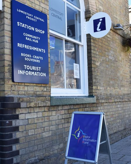 Lowestoft's new Tourist Information Office at Lowestoft Railway Station on the hottest day of the ye