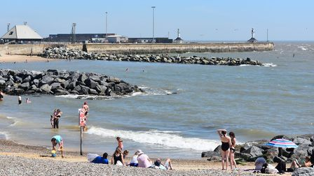 Lowestoft was 'very busy' on the hottest day of the year. Picture: Mick Howes