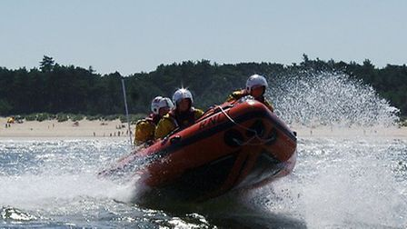 Wells inshore lifeboat rescued four adults and four children at Stiffkey Picture: Wells RNLI
