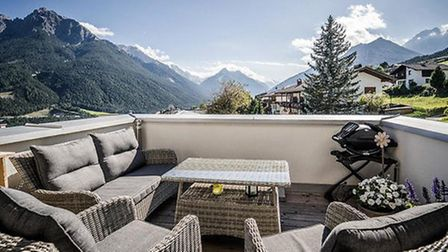The apartment with a spectacular view in Austria. Pic: Peter Robinson