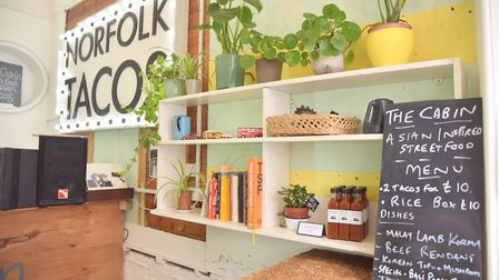 The Cabin street food opens up a shop in Cromer, chef and owner Justin Unsworth has had pop up food