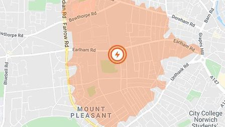 People in the NR2 area of Norwich have been hit by a power cut. Pic: UK Power Networks.