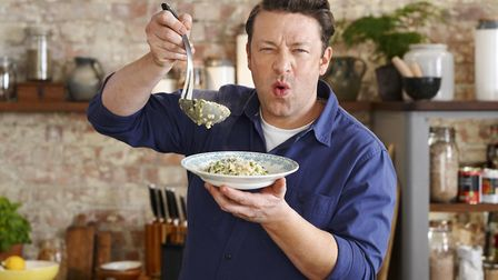 Jamie Oliver launched a successful campaign to ban turkey twizzlers. Picture: Paul Stuart