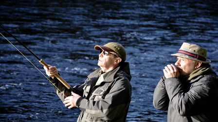 A tense moment for Paul Whitehouse and Bob Mortimer in Gone Fishing Picture: John Bailey