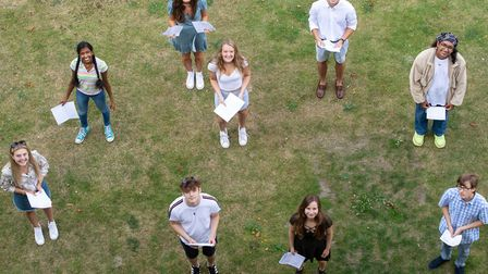 Students at Norwich School receive their A-Level results. Picture: Joe Giddens/PA Wire