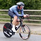 Great Yarmouth CC rider Julian Claxton had a personal best despite a fall at the CC Breckland 50 Pic