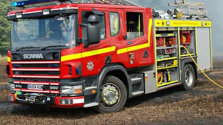 Firefighters were called to a straw stack fire near Dereham.