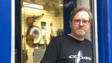 Mark Hedge of Cooke's music store. Picture: Archant